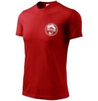 koszulka czerwona SMS - nowe logo